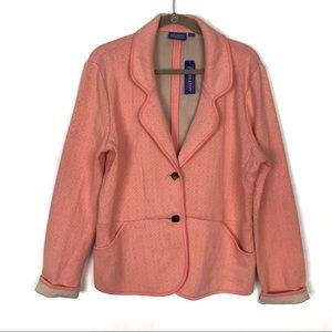 Pendleton Soft 2 Button Blazer Womens Size XL